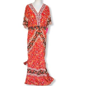 NWT Maxi dress slide slits open back Size XXL